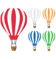 set hot air balloon icon vector image