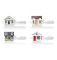set of small house keys vector image