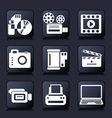 Set photo and video icons vector image