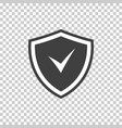 shield icon with tick at center vector image vector image