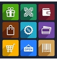 Shopping Flat Icons Set 35 vector image