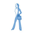 silhouette woman shopping bag commerce vector image