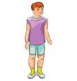 Sketch of boy vector image vector image
