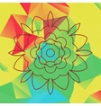 Stylized flower over bright triangles background vector image vector image
