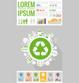 trendy futuristic eco city infographics templates vector image
