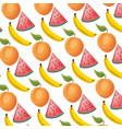 tropical fruits background vector image vector image