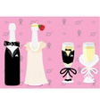 wedding champagne vector image
