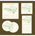 wedding invitation cards set vector image vector image