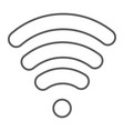 wi-fi thin line icon wireless and communication vector image