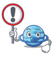 with sign plenet uranus images in character form vector image