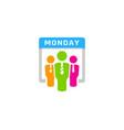 work calendar logo icon design vector image