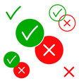 yes and no positive and negative icons vector image vector image