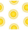 Sun symbol seamless pattern vector image
