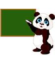Panda writing on blackboard vector image