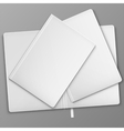 White Books On The Table vector image