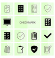 14 checkmark icons vector image vector image