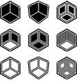 3d isometric empty room corner symbol vector image