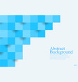 abstract background blue square geometric texture vector image vector image
