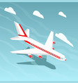 airplane isometric style vector image vector image