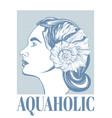 Aquaholic hand drawn girl