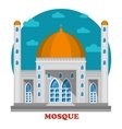 Arabian islam muslim mosque with domes vector image vector image
