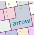 arrow button on computer keyboard key vector image