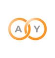 ay logo vector image vector image