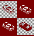 bank note dollar sign bordo and white vector image vector image
