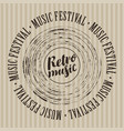 banner for retro music festival with vinyl record vector image vector image