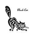 big graceful cat vector image vector image