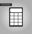 black and white style icon calculator vector image vector image