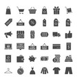 black friday solid web icons vector image vector image