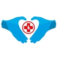 Blood Donation Emblem Template vector image vector image