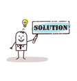 businessman with solution sign vector image