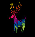 cartoon deer graphic vector image vector image