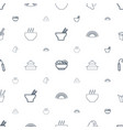 chinese icons pattern seamless white background vector image vector image