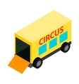 Circus trailer isometric 3d icon vector image vector image