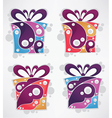 collection present and gift boxes vector image vector image