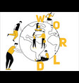 creative word concept world and people doing vector image