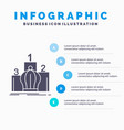 crown king leadership monarchy royal infographics vector image vector image
