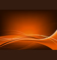 dark orange background with smooth lines vector image
