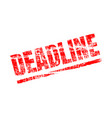 deadline stamp approaching seal overdue stamp vector image vector image