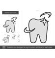 Dental care line icon vector image