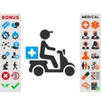 Drugs Motorbike Delivery Icon vector image