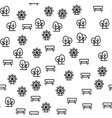 elements of amusement park seamless pattern vector image vector image