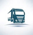 europian truck outlined symbol vector image