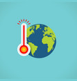 flat color global warming icon vector image vector image