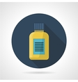 Flat color icon for fat burners vector image