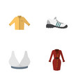 flat icon garment set of sneakers clothes banyan vector image vector image
