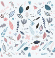 flowers and leaf pattern pretty spring pastel vector image vector image